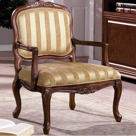 Occasional Chair - Burnaby Traditional Occasional Chair, Antique Oak