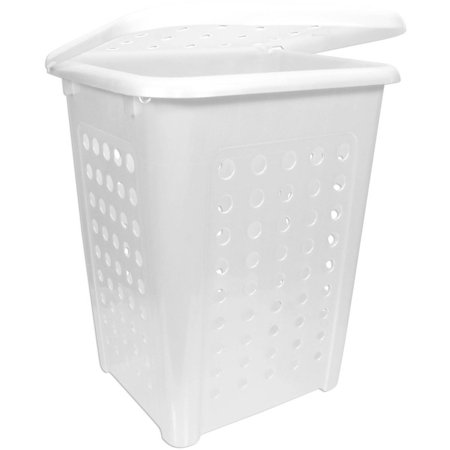 Home Logic 2 2 Bu X Large Capacity Lidded Laundry Hamper  White