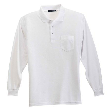 Port Authority Mens Silk Touch 3 Button Placket Polo Shirt