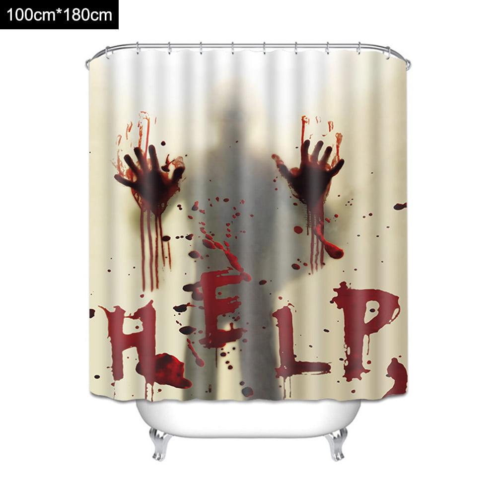3D Pattern Fabric Shower Curtains Bathroom Washroom With Free Hooks 180cm*180cm