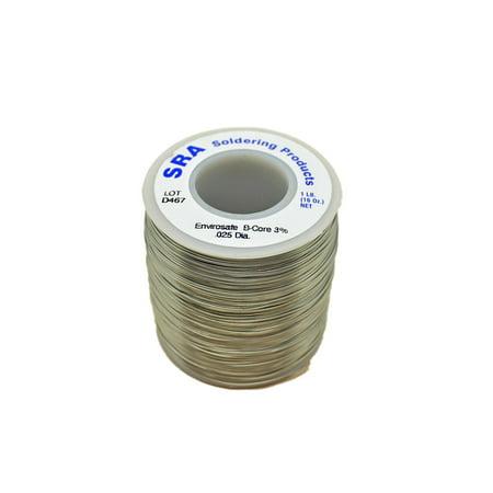 SRA Lead Free Acid Core Envirosafe Solder .025-Inch, 1-Pound Spool