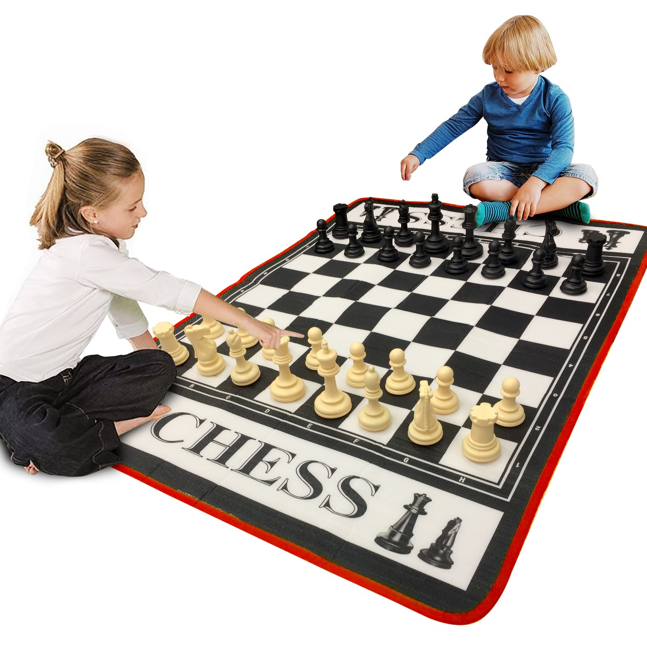 Click here to buy EasyGo Giant 3 Feet X 4 Feet Mat Chess Game � Indoor Outdoor Family Game � Lawn Game � Pieces Range from 3-6... by EasyGo Products.