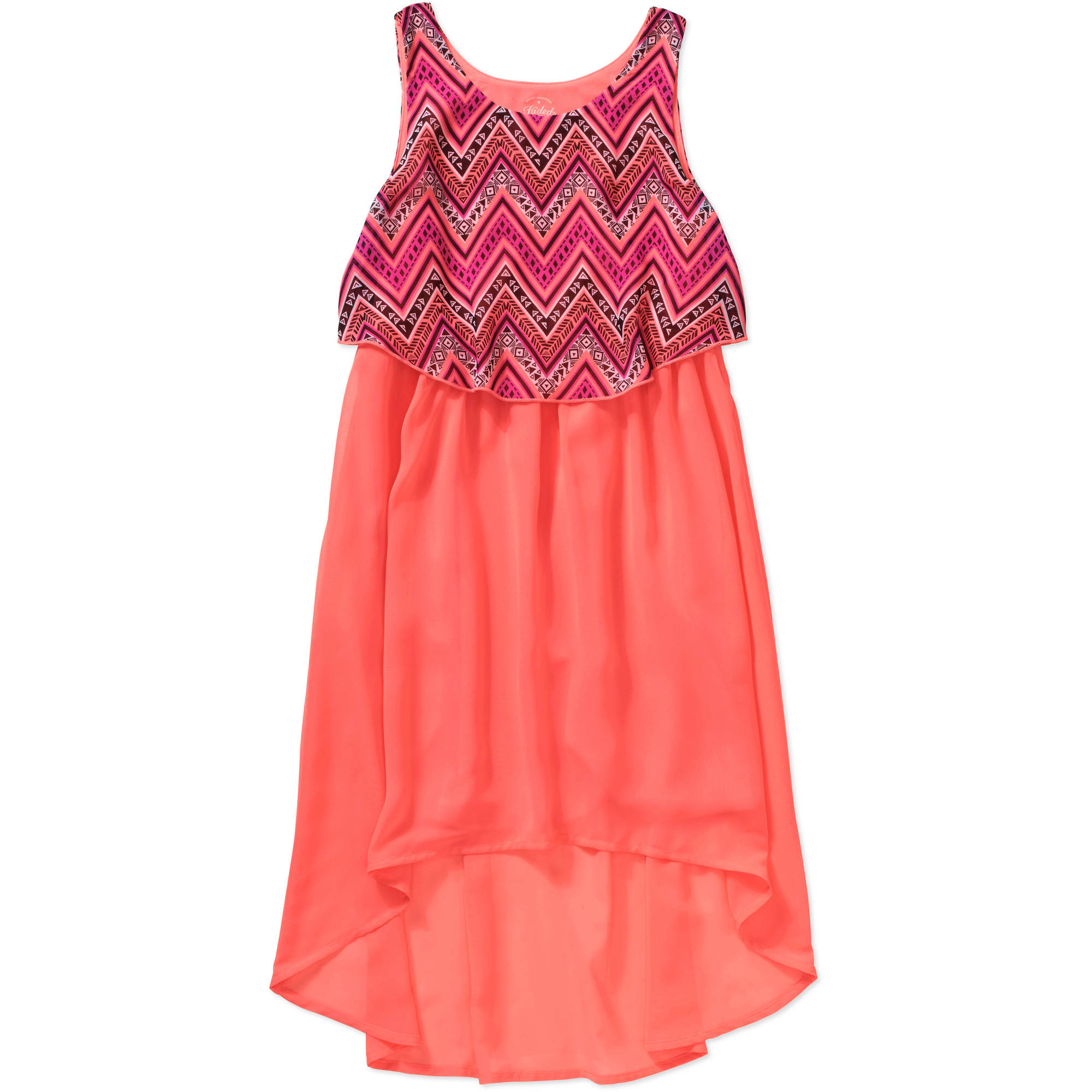 Faded Glory Girls' Popover High Low Dress