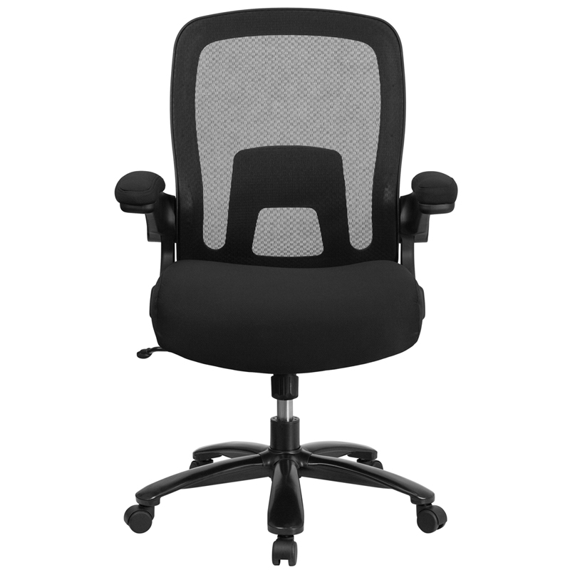 Big Tall Black Mesh Executive Swivel Office Chair With Lumbar And Back Support Walmart Com Walmart Com