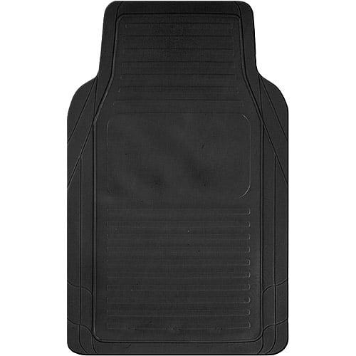 Kraco 4pc Basic Rubber Floor Mats, Black