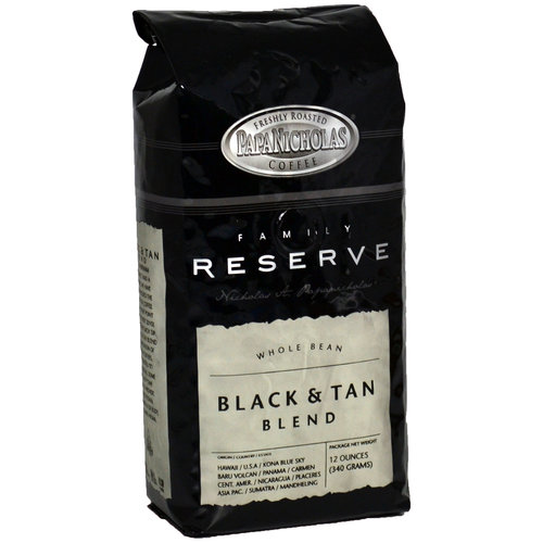 PapaNicholas Coffee Family Reserve Black and Tan Whole Bean 12oz Bag