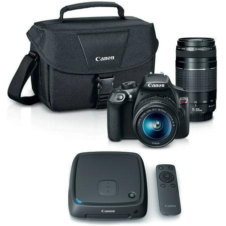 Canon Eos Rebel T6 Slr Camera W  18 55Mm And 75 300Mm Lens Kit   Cs100 1Tb Connect Station Storage Hub Bundle
