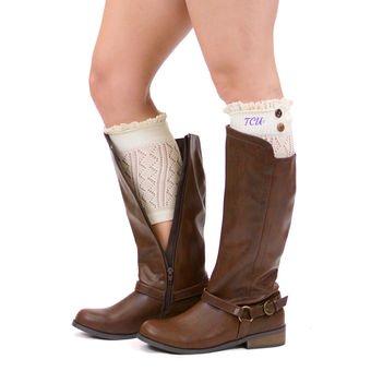 Texas Christian Horned Frogs ZooZatz Women's Boot Cuff Leg