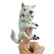 Untamed Dire Wolf by Fingerlings – Blizzard (White and Blue) – Interactive Collectible Toy – By WowWee