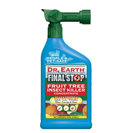 Dr. Earth Organic & Natural Final Stop Fruit Tree Insect Killer, 32 oz RTS - Halloween Bus Stop