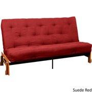 10-inch Loft Full-size Inner Spring Splendor Futon Mattress Suede Red Full Futon Mattress