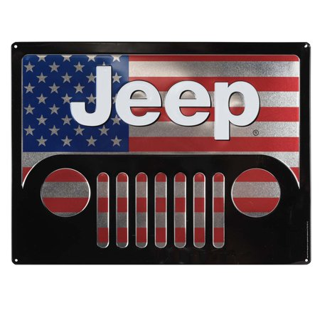 - Jeep Grill America Embossed Metal Sign