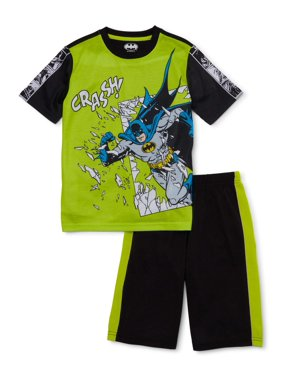 Batman Boys Exclusive 4-12 Short Sleeve with Shorts 2-Piece Pajama Set