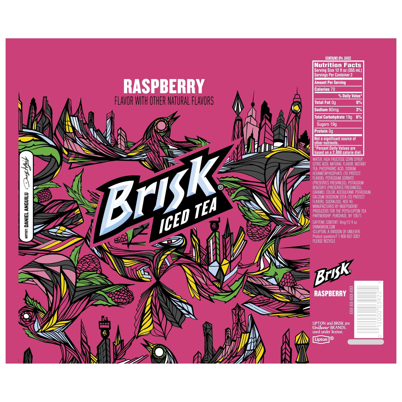 Brisk Raspberry Iced Tea, 24 Fl. Oz