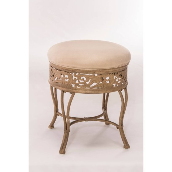 Hillsdale Furniture Villa Iii Vanity Stool Antique Beige