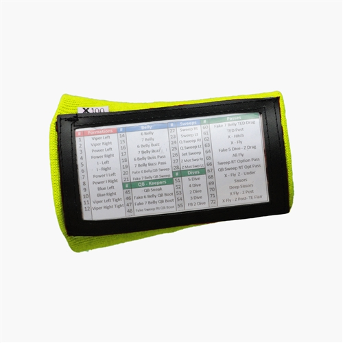 X100 Youth Playbook Wristband - Single Panel - Green