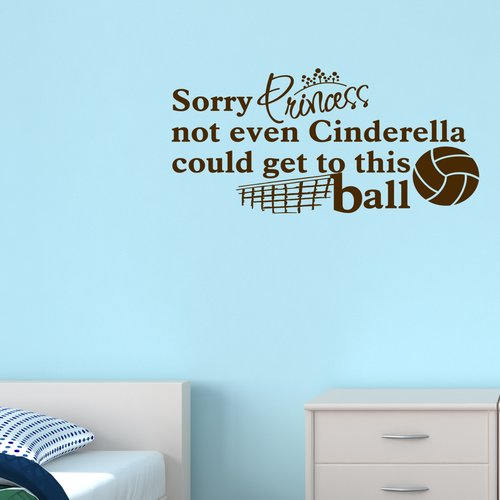 Zoomie Kids Sorry Princess Volleyball Wall Decal (Set of 3)