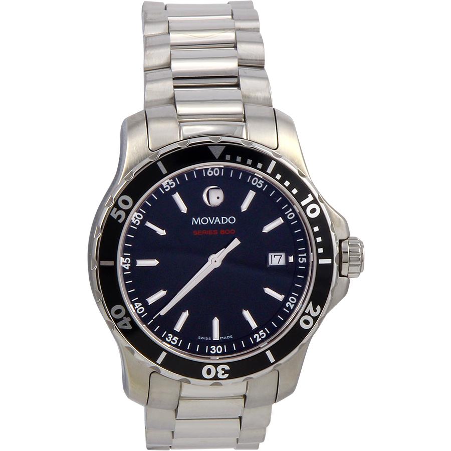 Movado Men's Watch Series 800 Black Dial 2600135
