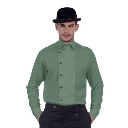 The Pirate Dressing C1293 Ulysses Side-Button Shirt, Green - - Vinyl Top Dressing