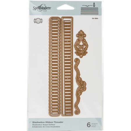 Spellbinders Shapeabilities Dies By Becca Feeken-Shadowbox Ribbon Threader Spellbinders Impressabilities Die