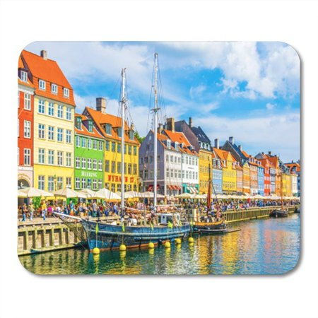 KDAGR Copenhagen Denmark August 21 View of Old Nyhavn Port Mousepad Mouse Pad Mouse Mat 9x10 inch