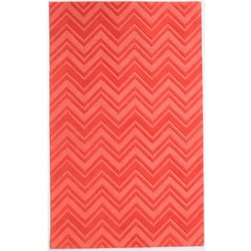 Bowery Hill 8' x 10' New Zealand Wool Rug in Orange