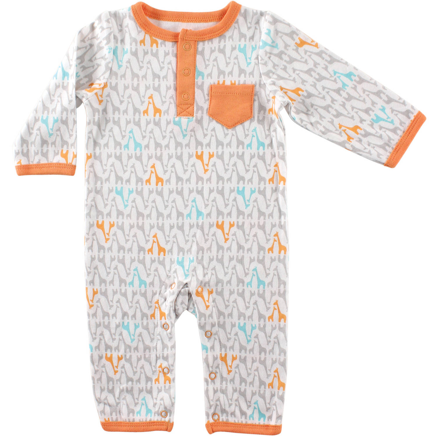 Yoga Sprout Newborn Baby Neutral Giraffe Union Suit