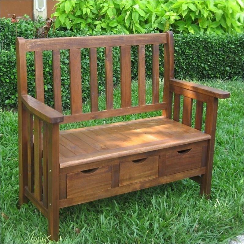 Pemberly Row 3 Drawer Outdoor/Indoor Bench