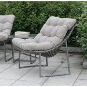 Furniture of America Georgio Modern Patio Chair in Gray by Furniture of America