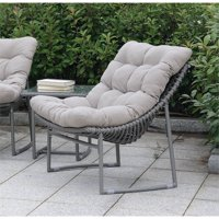 Furniture of America Georgio Modern Patio Chair in Gray