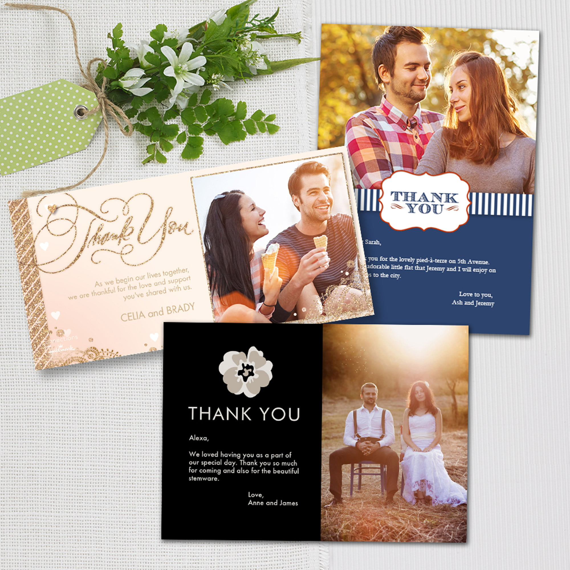 Wedding Thank You Photo Greeting Cards