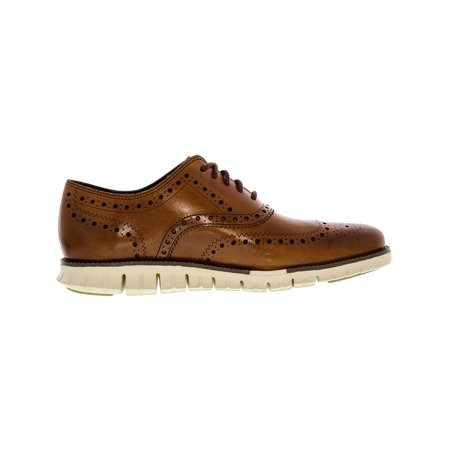 924b045f6b157 Cole Haan Men s Zerogrand Wing Oxford British Tan Ankle-High Leather Shoe -  11.5M ...