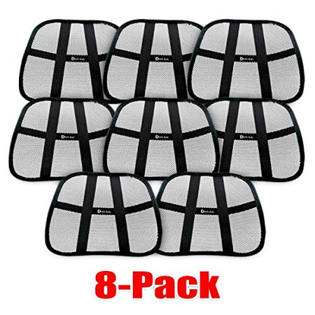 Muscle Car Decor (8 - Pack Zento Deals Lumbar Support Mesh Hollow Black Hollow Car Auto Chair Seat Back Muscle Cushion Home Office Waist Indoor)