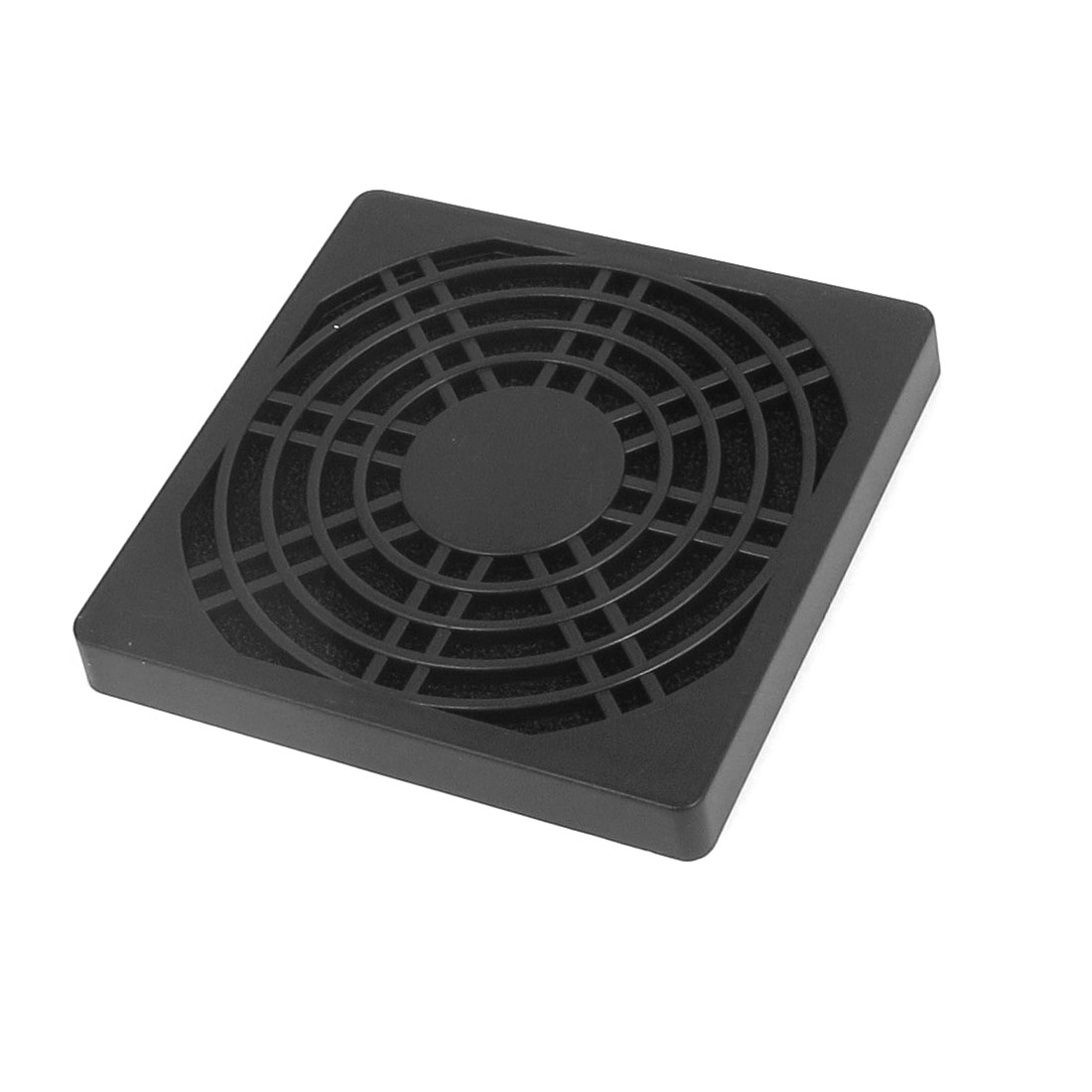 86mm x 86mm Black Plastic Square PC Cooler Fan Case Cover Dust Filter Protector
