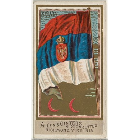 Serbia from Flags of All Nations Series 2 (N10) for Allen & Ginter Cigarettes Brands Poster Print (18 x 24)