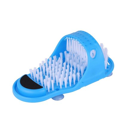 Bathroom Slippers with Feet Cleaner Brush for Shower Spa Massage Exfoliation Removal - image 1 of 1