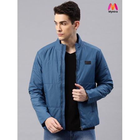 d7e363957 HRX by Hrithik Roshan Men Navy Blue Solid Padded Jacket
