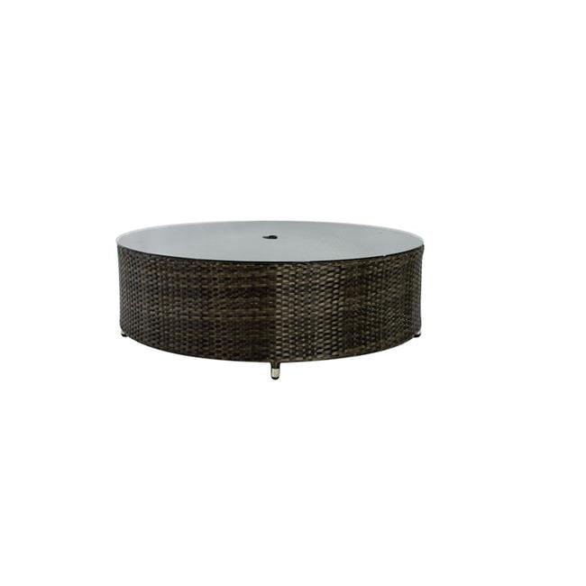 Source Outdoor SO-2006-321-ESP Circa Round Shaped Coffee Table in Espresso by Source Outdoor