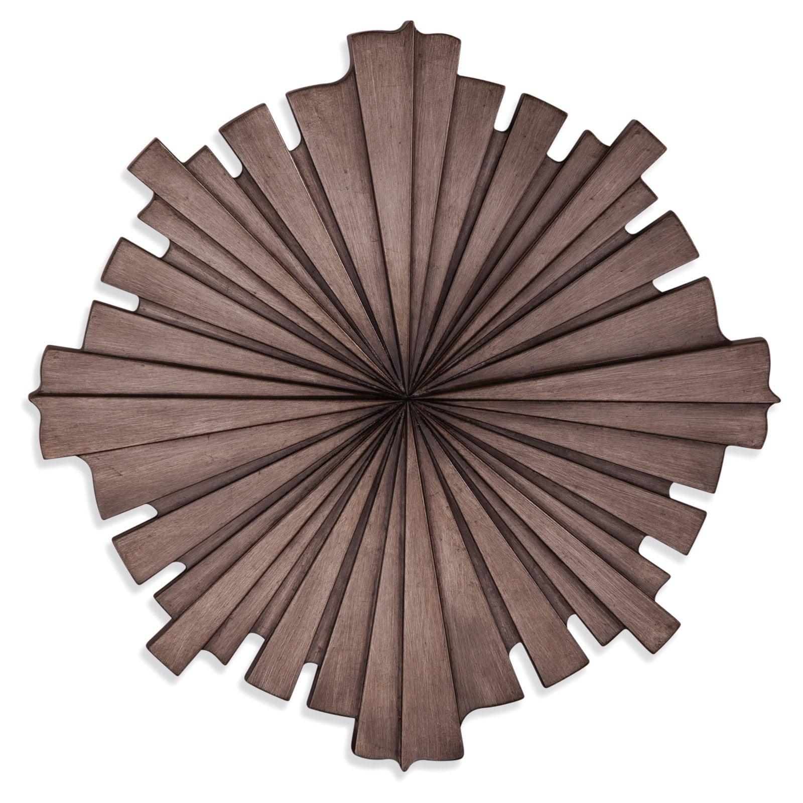 Bassett Mirror Company Brown Sunburst Wall Sculpture