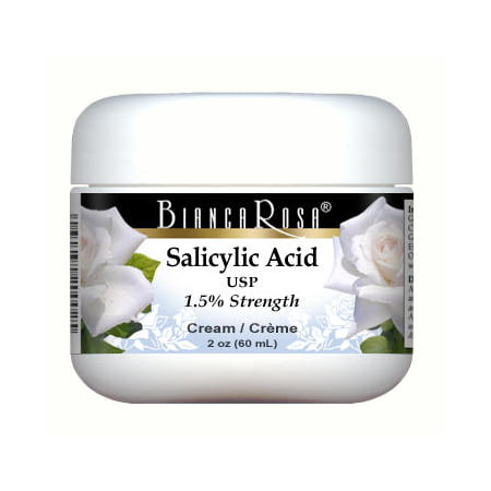Salicylic Acid USP (Beta Hydroxy Acid - BHA) (1.5%) - Cream - Sensitive Skin (2 oz, ZIN: