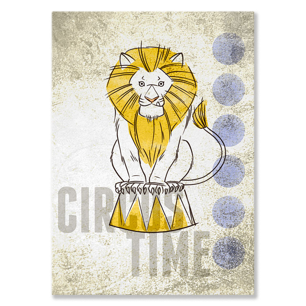 Oopsy Daisy - Canvas Wall Art Big Top Lion 10x14 By Fancy That Design House & Co