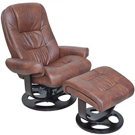 Barcalounger Jacque II Leather Recliner & Ottoman - (Barcalounger Leather Recliner)