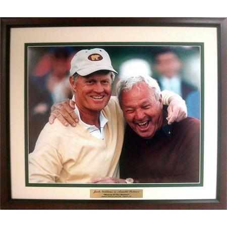 20x24 Custom Frame - Arnold Palmer & Jack Nicklaus Hugging Photo
