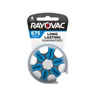 Rayovac Size 675 Hearing Aid Batteries, 6-Pack 675-6