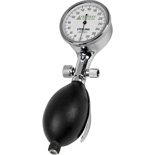 Palm Aneroid Gauge, Chrome-Plated, White Luminescent Gauge Face