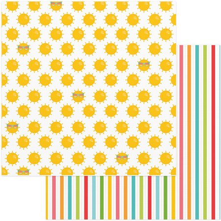New  Summer Bucket List Double Sided Cardstock 12 X12  Summer Sun   Case Pack Of 25