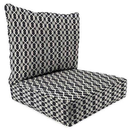 jordan manufacturing outdoor patio 2 pc deep seat chair cushion hedda tuxedo. Black Bedroom Furniture Sets. Home Design Ideas