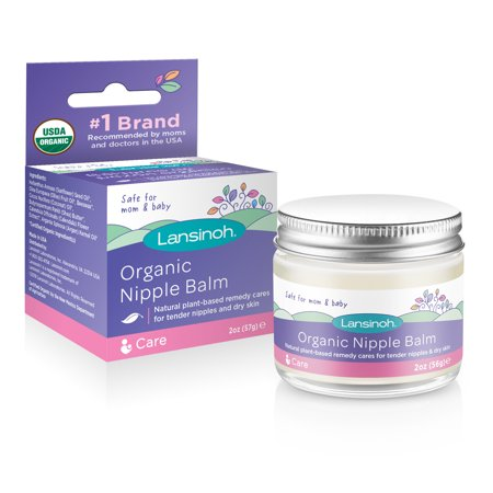 Lansinoh Organic Nipple Balm for Breastfeeding and Dry Skin, 2 Ounce Jar Lansinoh Lanolin Cream
