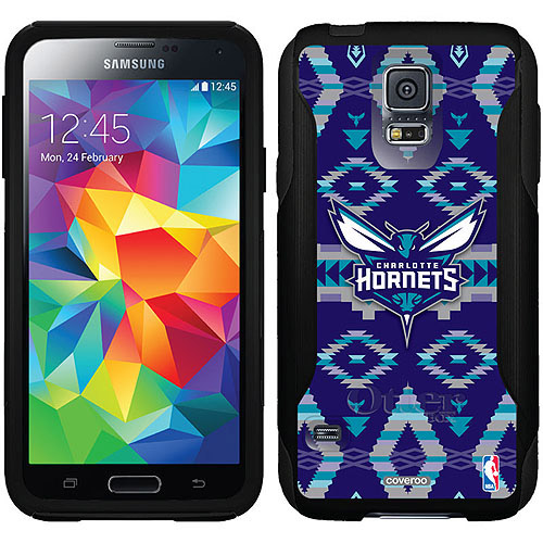 Charlotte Hornets Tribal Design on OtterBox Commuter Series Case for Samsung Galaxy S5
