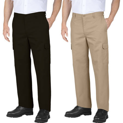 Genuine Dickies Men's Relaxed Fit Flat Front Cargo Pants, 2 Pack